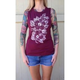 Ladies Shirts Maroon