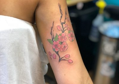 Cherry blossom tattoo - by Buge - Maui Tattoo Artist at Mid-Pacific Tattoo