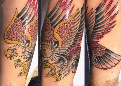 Bald eagle tattoo - by Dani - Maui Tattoo Artist at Mid-Pacific Tattoo
