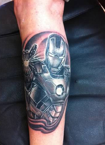 Ironman tattoo - by Tommy - Maui Tattoo Artist at Mid-Pacific Tattoo