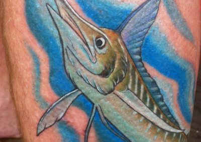 Marlin tattoo - by Tommy - Maui Tattoo Artist at Mid-Pacific Tattoo