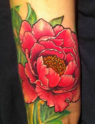 Pink Peony tattoo - by Tommy - Maui Tattoo Artist at Mid-Pacific Tattoo