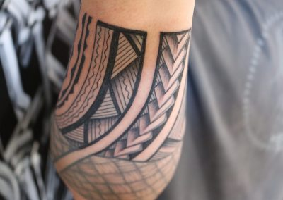 Polynesian wrist tattoo by Jacob - Maui Tattoo Artist at Mid-Pacific Tattoo