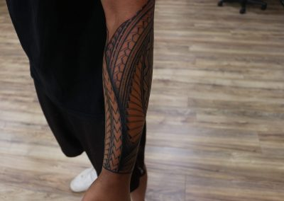 Polynesian Islander forearm tattoo by Jacob - Maui Tattoo Artist at Mid-Pacific Tattoo